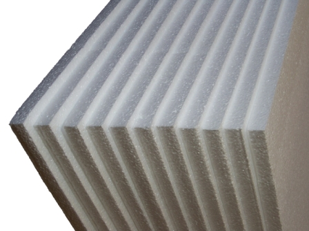 6 x Sheets Of Expanded Foam Polystyrene 1200x600x50mm
